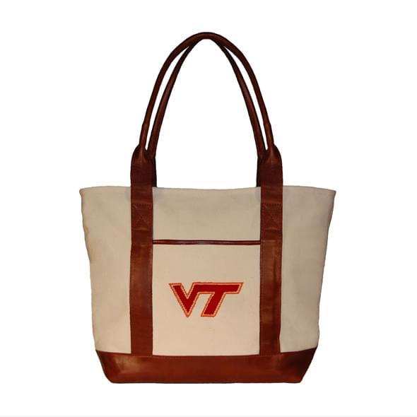 Virginia Tech Needlepoint Tote