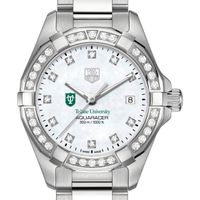 Tulane University W's TAG Heuer Steel Aquaracer with MOP Dia Dial & Bezel