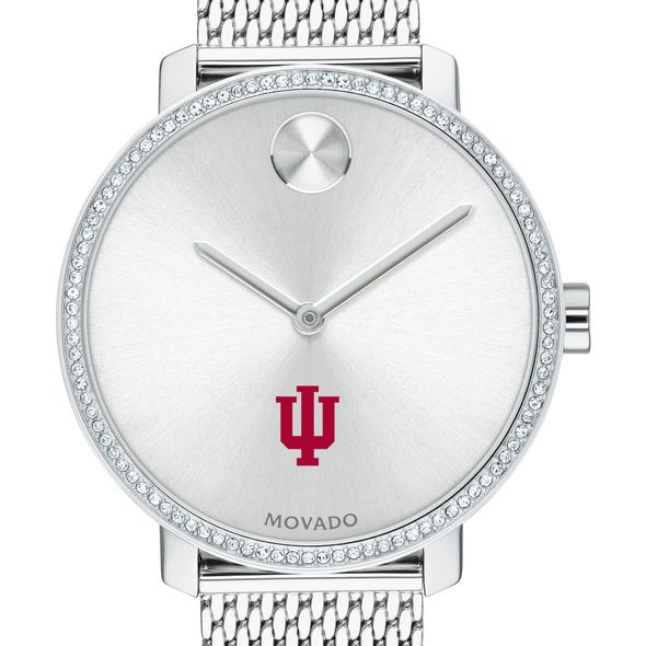 Indiana Women's Movado Bold with Crystal Bezel & Mesh Bracelet