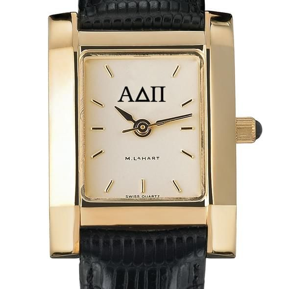 ADPi Women's Gold Quad Watch with Leather Strap - Image 2