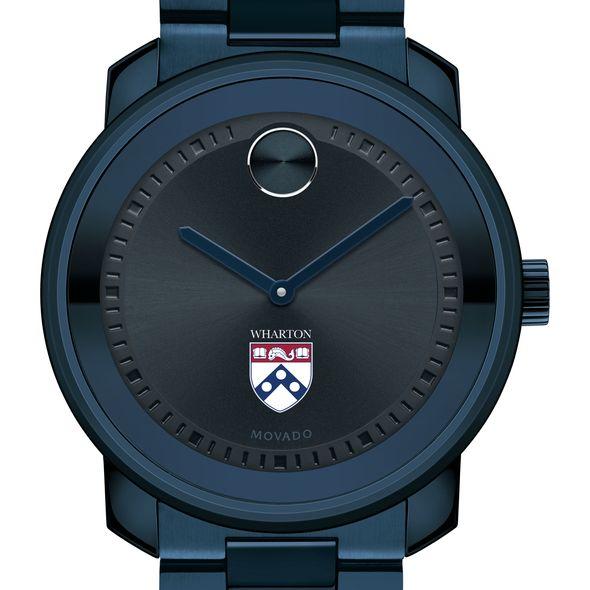 Wharton Men's Movado BOLD Blue Ion with Bracelet