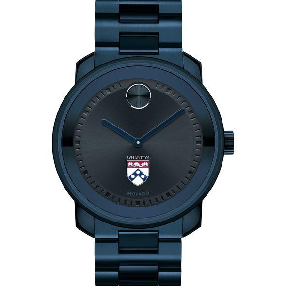 Wharton Men's Movado BOLD Blue Ion with Bracelet - Image 2