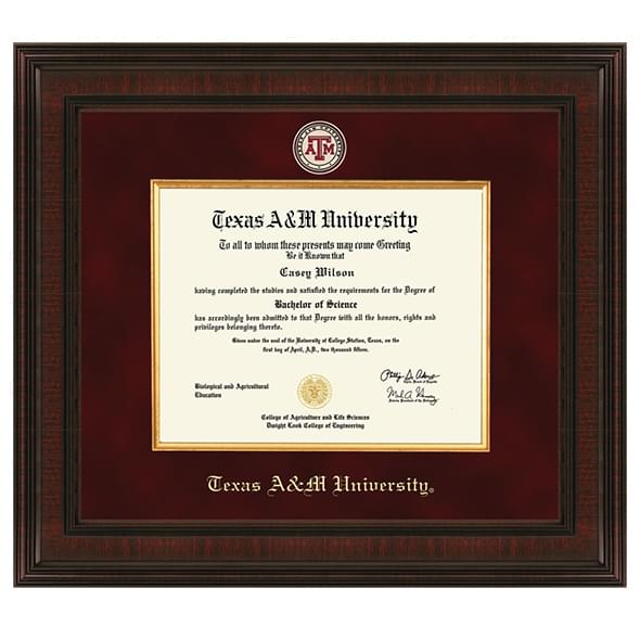 Texas A&M University Diploma Frame - Excelsior | Graduation Gift