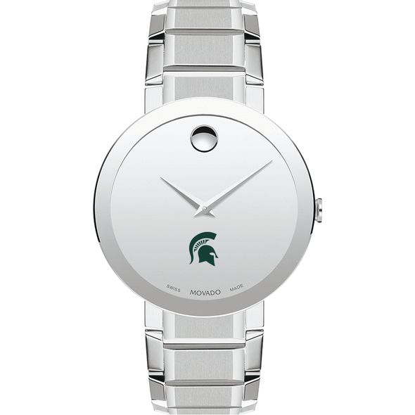 Michigan State University Men's Movado Sapphire Museum with Bracelet - Image 2