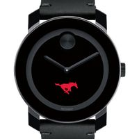 Southern Methodist University Men's Movado BOLD with Leather Strap