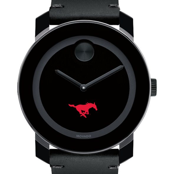 Southern Methodist University Men's Movado BOLD with Leather Strap - Image 1