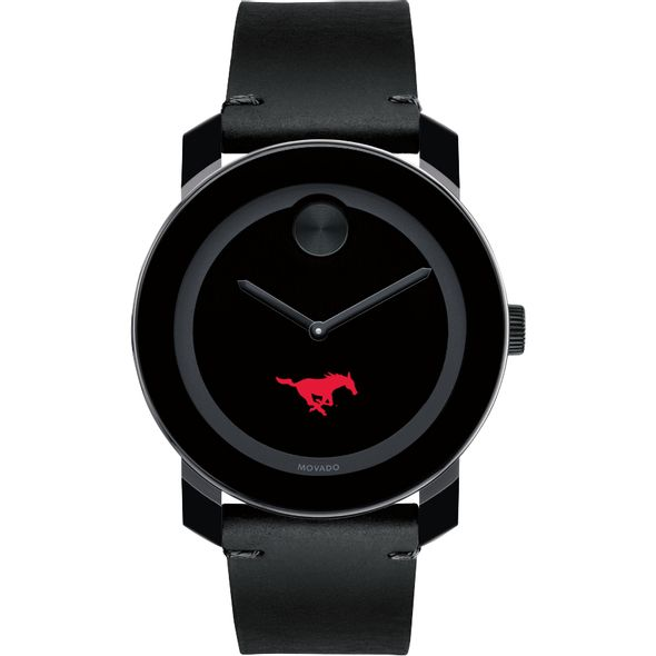 Southern Methodist University Men's Movado BOLD with Leather Strap - Image 2