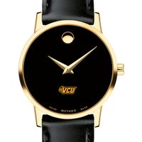 Virginia Commonwealth University Women's Movado Gold Museum Classic Leather