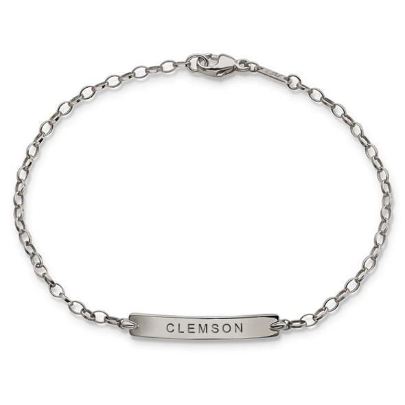 Clemson Monica Rich Kosann Petite Poesy Bracelet in Silver