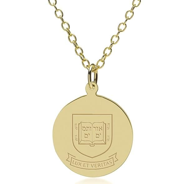 Yale 18K Gold Pendant & Chain - Image 1