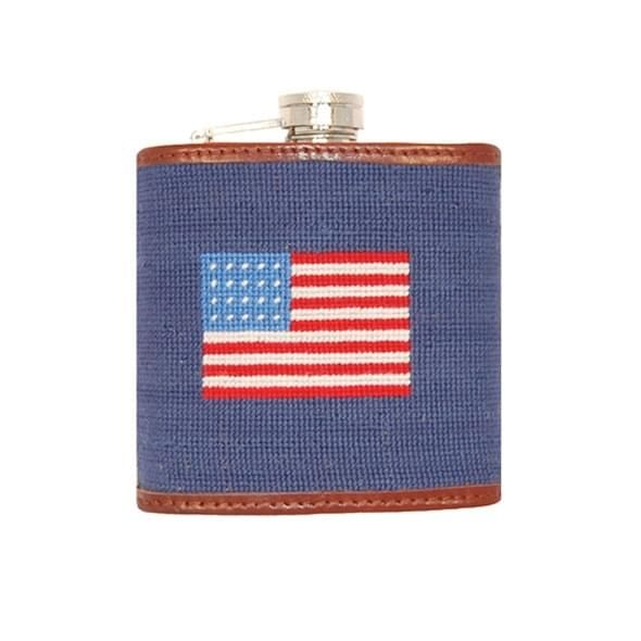 American Flag Needlepoint Flask - Image 2