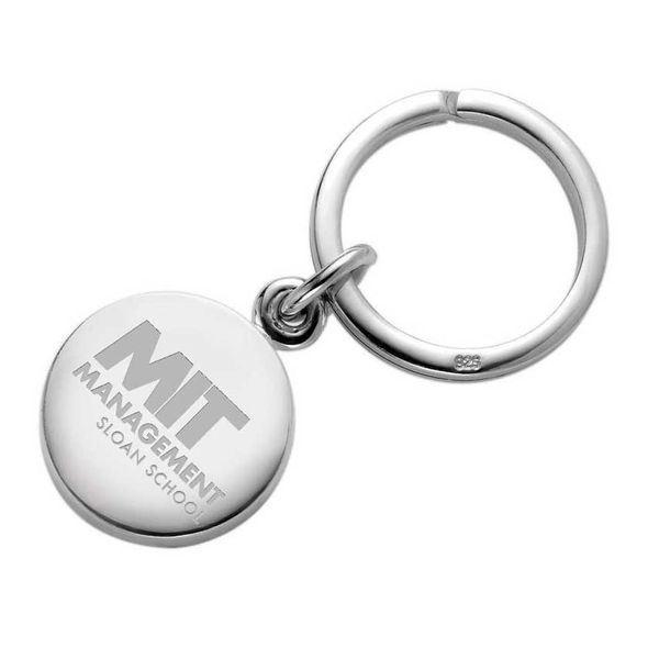 MIT Sloan Sterling Silver Insignia Key Ring - Image 1