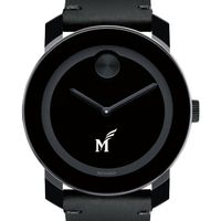 George Mason University Men's Movado BOLD with Leather Strap