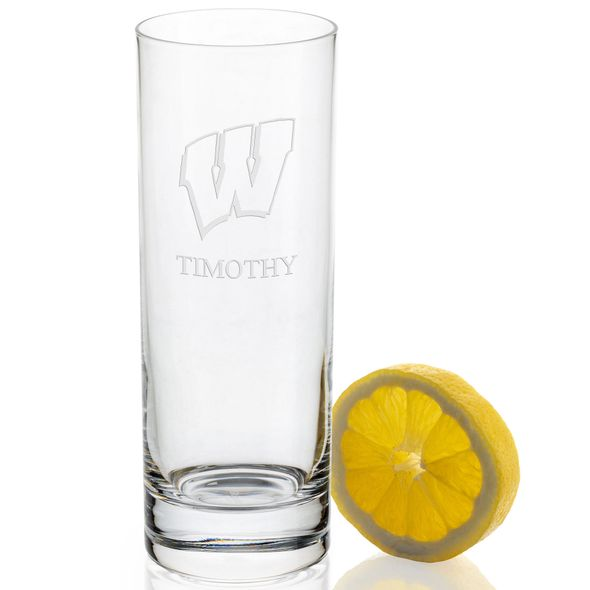 Wisconsin Iced Beverage Glasses - Set of 4 - Image 2
