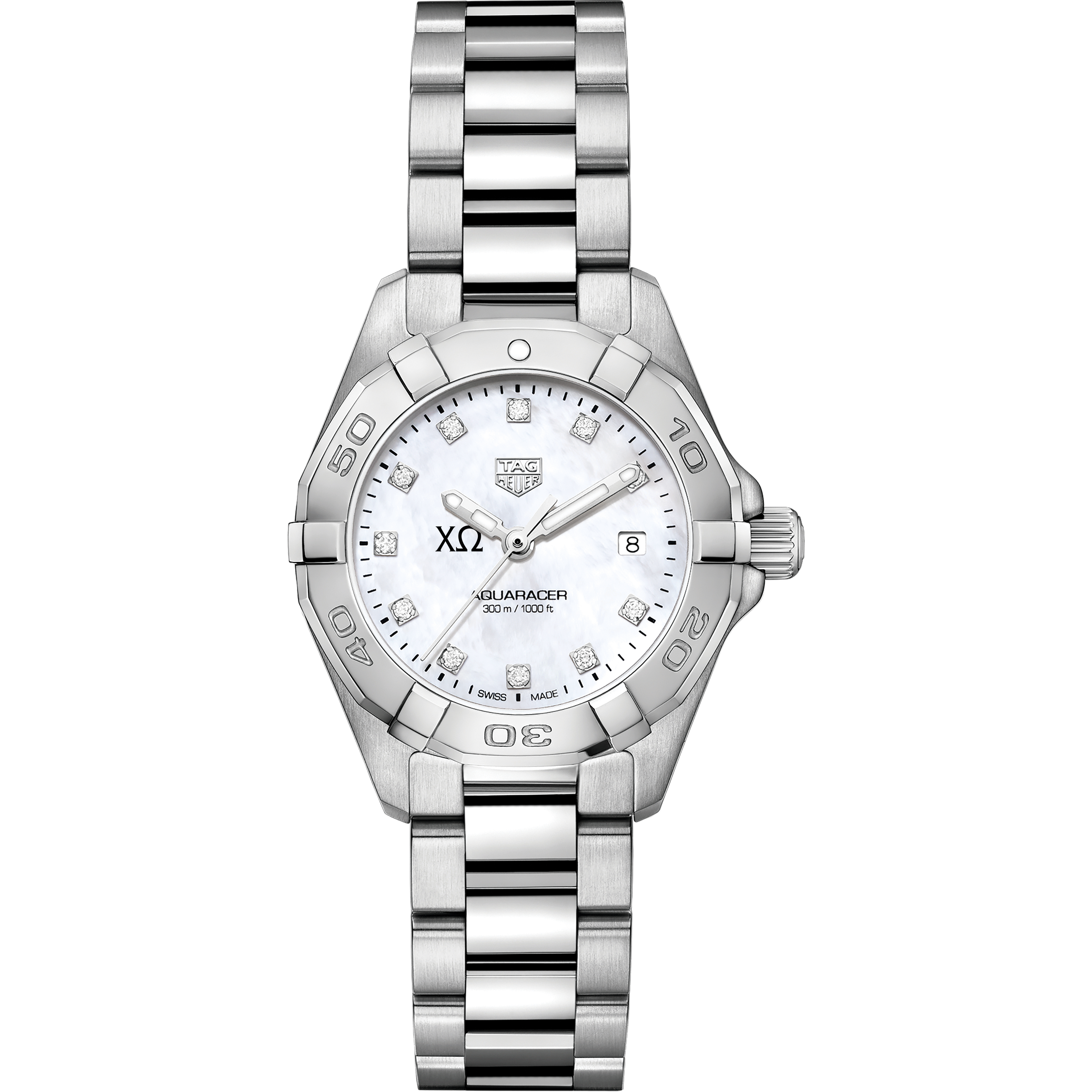 Chi Omega W's TAG Heuer Steel Aquaracer w MOP Dia Dial - Image 2