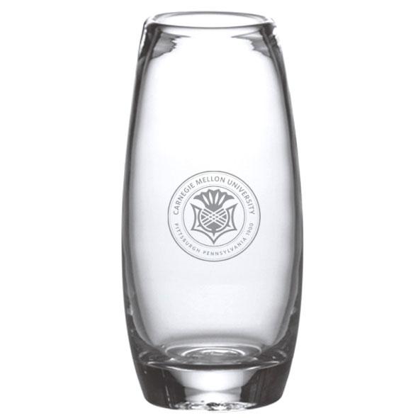 Carnegie Mellon University Glass Addison Vase by Simon Pearce