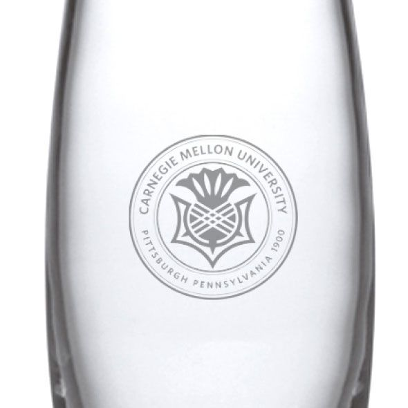 Carnegie Mellon University Glass Addison Vase by Simon Pearce - Image 2