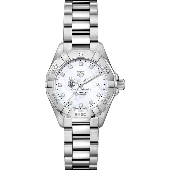 Cornell Women's TAG Heuer Steel Aquaracer with MOP Diamond Dial - Image 2