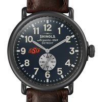 Oklahoma State Shinola Watch, The Runwell 47mm Midnight Blue Dial