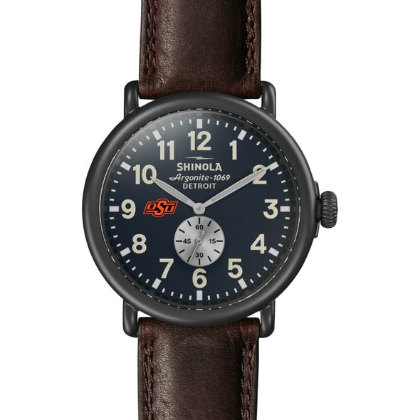 Oklahoma State Shinola Watch, The Runwell 47mm Midnight Blue Dial - Image 2