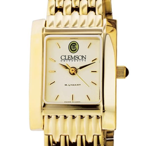Clemson Women's Gold Quad Watch with Bracelet