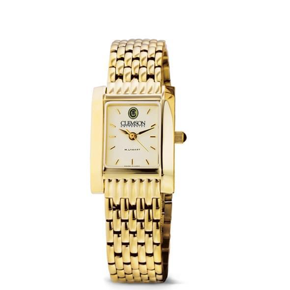 Clemson Women's Gold Quad Watch with Bracelet - Image 2