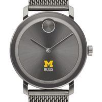 Ross School of Business Men's Movado BOLD Gunmetal Grey with Mesh Bracelet