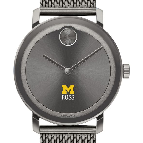 Ross School of Business Men's Movado BOLD Gunmetal Grey with Mesh Bracelet