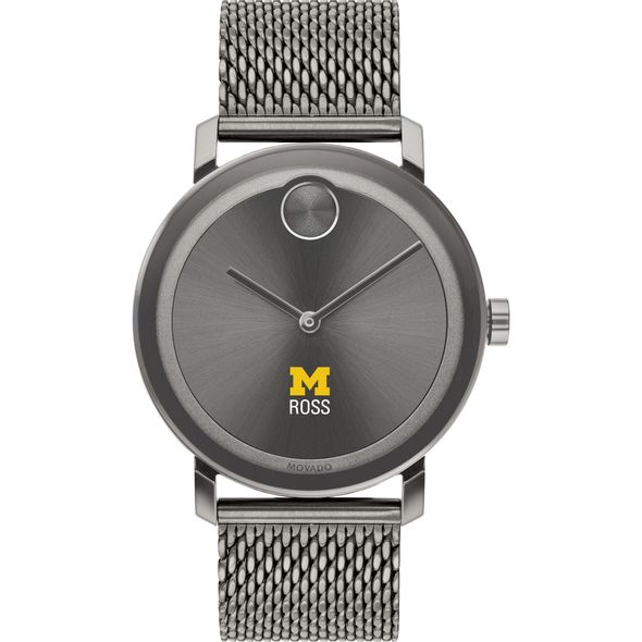 Ross School of Business Men's Movado BOLD Gunmetal Grey with Mesh Bracelet - Image 2