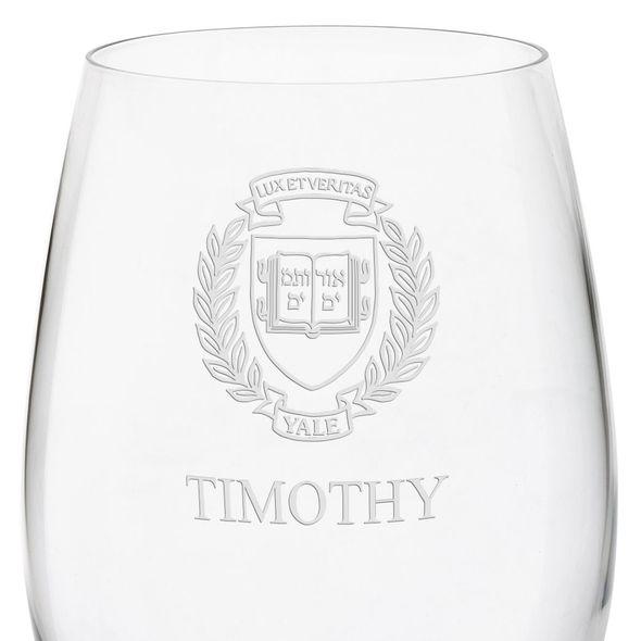 Yale University Red Wine Glasses - Set of 2 - Image 3