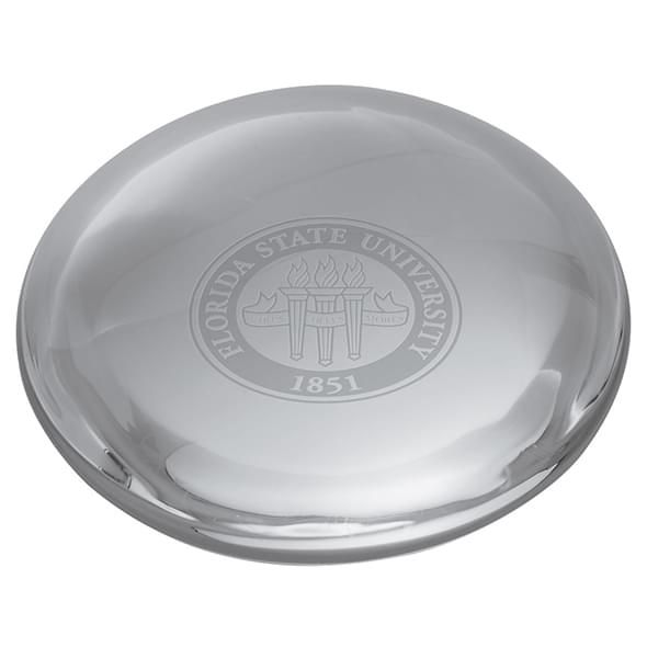 Florida State Glass Dome Paperweight by Simon Pearce - Image 2