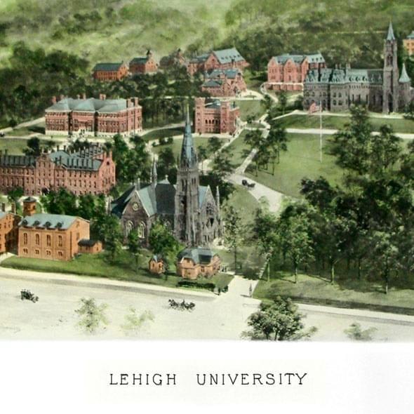 Historic Lehigh University Watercolor Print - Image 2