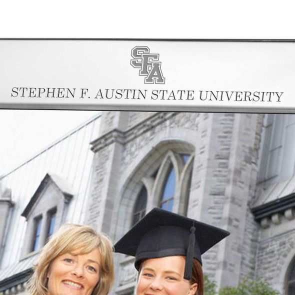 SFASU Polished Pewter 8x10 Picture Frame - Image 2