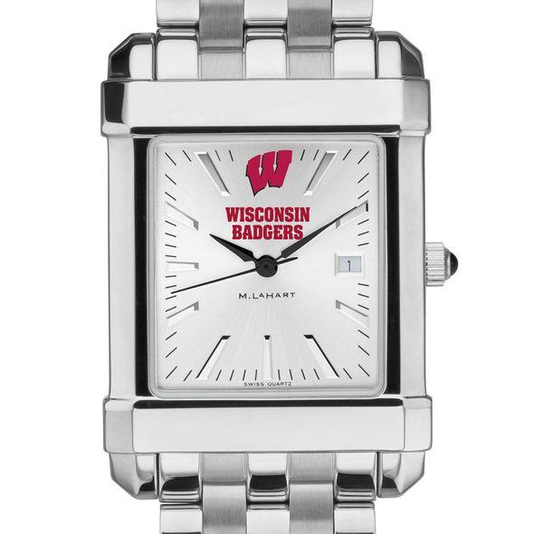 Wisconsin Men's Collegiate Watch w/ Bracelet - Image 1