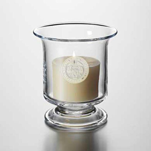 USMMA Glass Hurricane Candleholder by Simon Pearce