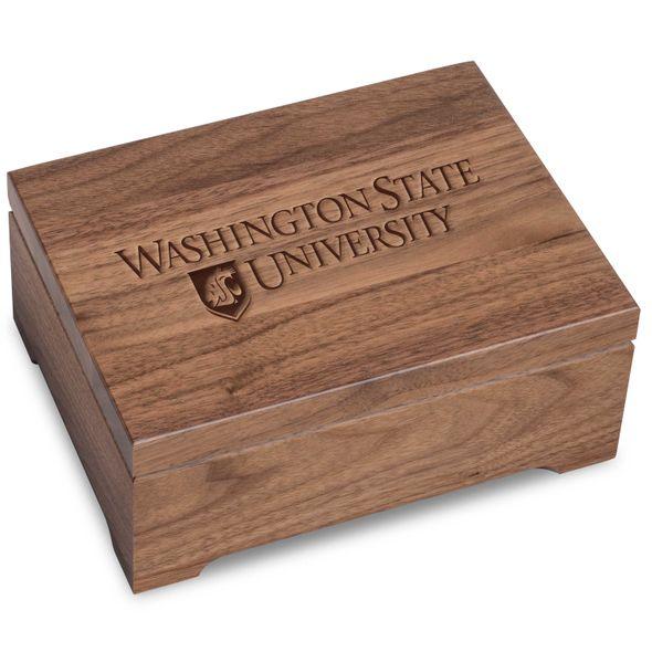 Washington State University Solid Walnut Desk Box