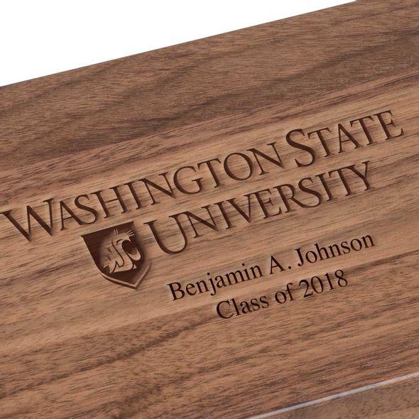 Washington State University Solid Walnut Desk Box - Image 3