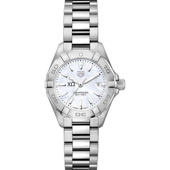 Chi Omega Women's TAG Heuer Steel Aquaracer w MOP Dial - Image 2