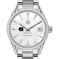 University of North Carolina Women's TAG Heuer Steel Carrera with MOP Dial & Diamond Bezel