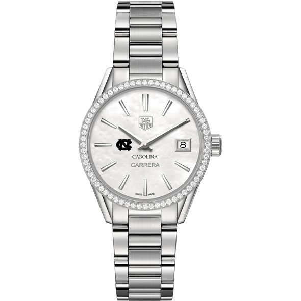 University of North Carolina Women's TAG Heuer Steel Carrera with MOP Dial & Diamond Bezel - Image 2