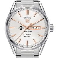 Iowa State Men's TAG Heuer Day/Date Carrera with Silver Dial & Bracelet