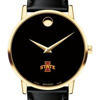 Iowa State University Men's Movado Gold Museum Classic Leather