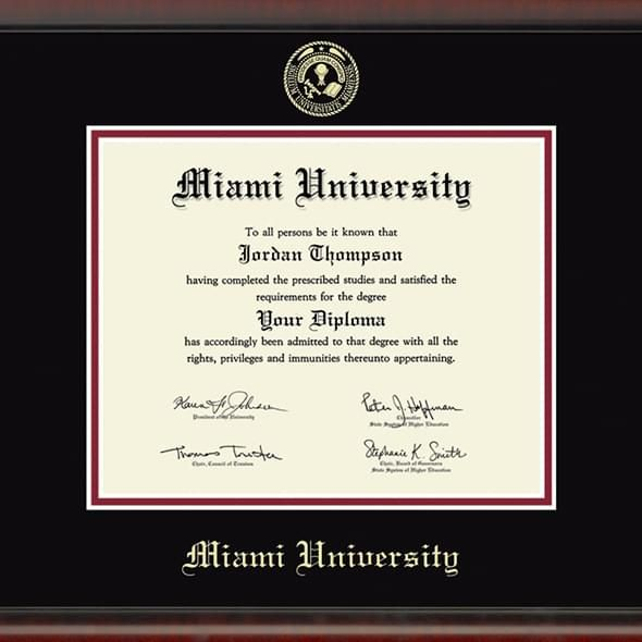 Miami University Diploma Frame, the Fidelitas - Image 2