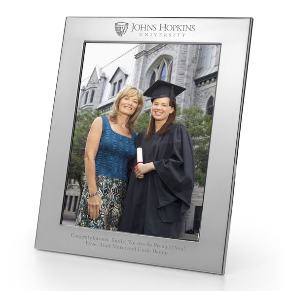 Johns Hopkins Polished Pewter 8x10 Picture Frame