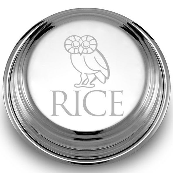 Rice University Pewter Paperweight - Image 2