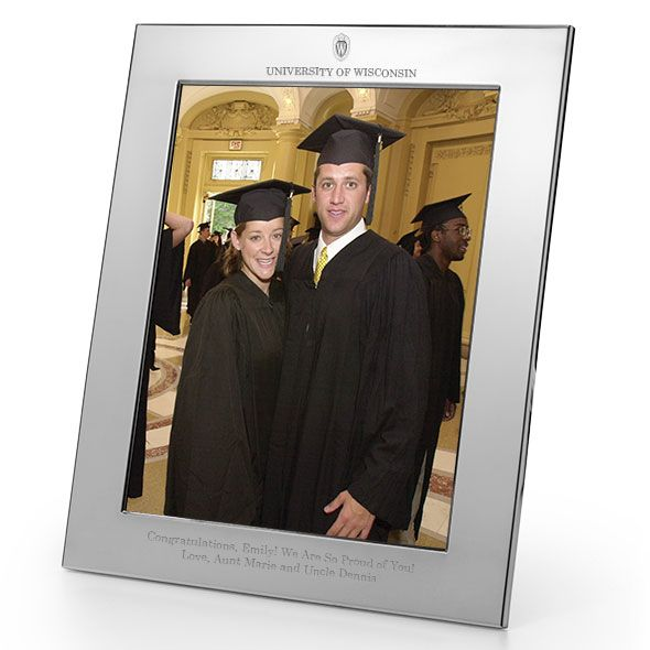 Wisconsin Polished Pewter 8x10 Picture Frame - Image 1