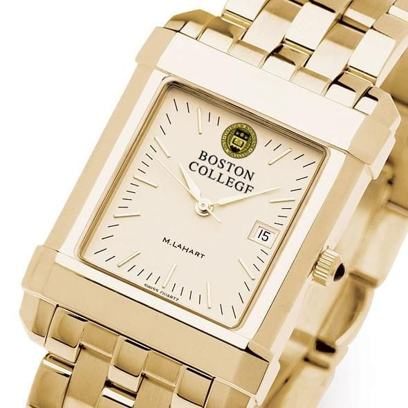 Boston College Men's Gold Quad Watch with Bracelet - Image 1