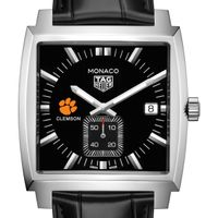Clemson TAG Heuer Monaco with Quartz Movement for Men