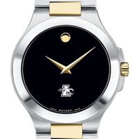 Loyola Men's Movado Collection Two-Tone Watch with Black Dial