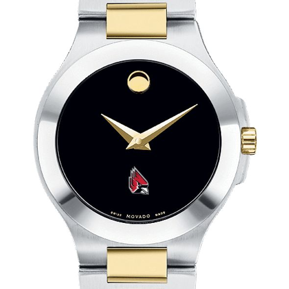 Ball State Women's Movado Collection Two-Tone Watch with Black Dial - Image 1